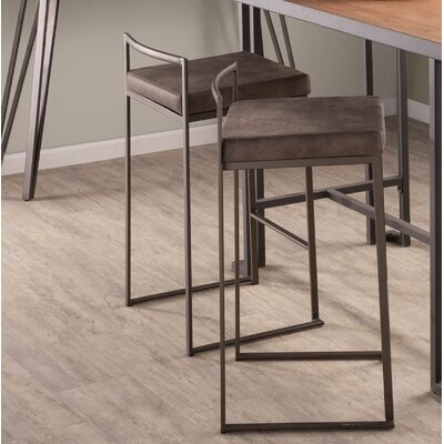 """Gary 27"""" Bar Stool Upholstery: Stone, Color: Antique"""