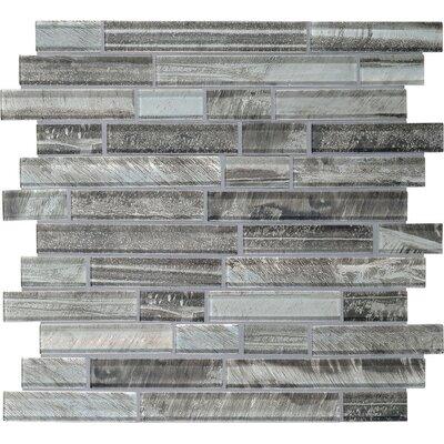 Rhodes Random Sized Glass Mosaic Tile in Caspian