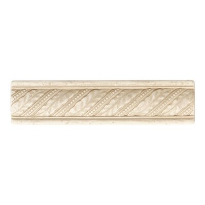 "Daltile Fashion Accents 8"" x 2"" Dynasty Laurel Decorative Accent in Crema"