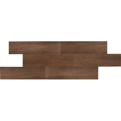 Daltile Terrace 6'' x 36'' Porcelain Wood Tile in Espresso