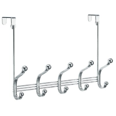 York Lyra Over Door 5 Hook Wall Mounted Coat Rack