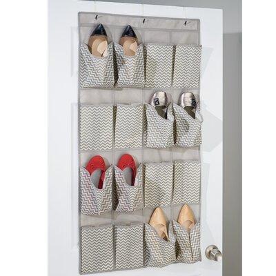 16-Pocket 8 Pair Overdoor Shoe Organizer