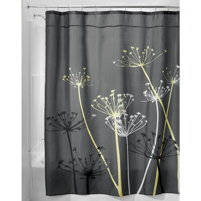 Nardi Shower Curtain Color: Gray/Yellow