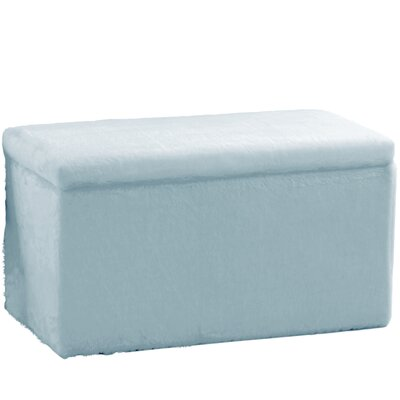Fabric Storage Bench Upholstery Color: Fur Blue