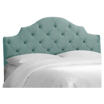 Lauryn Tufted Upholstered Headboard Size: California King, Color: Caribbean