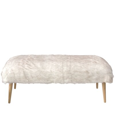 Chereen Wood Wood Bench with Cone Legs
