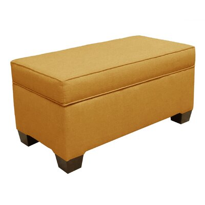 Fabric Storage Bench Color: French Yellow