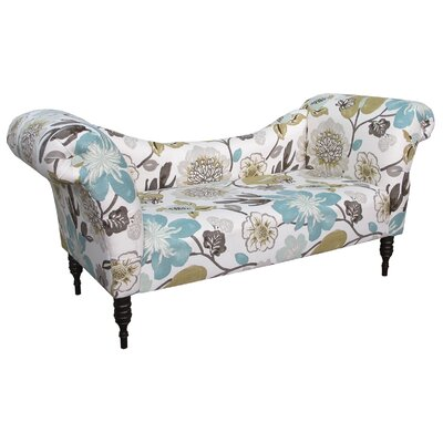 Roll Arm Chaise Lounge Upholstery: Pearl