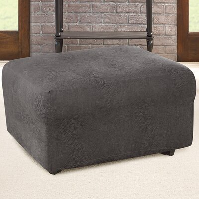 Ultimate Stretch Ottoman Slipcover Upholstery: Antiqued Slate