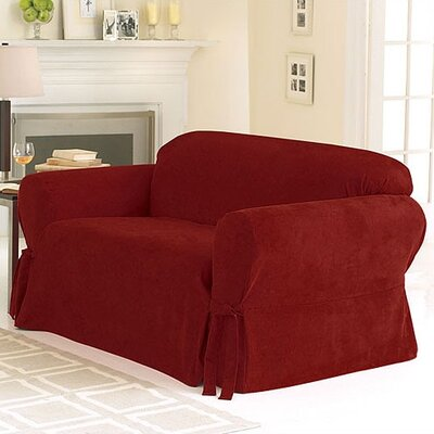 sure fit soft suede sofa slipcover reviews wayfair
