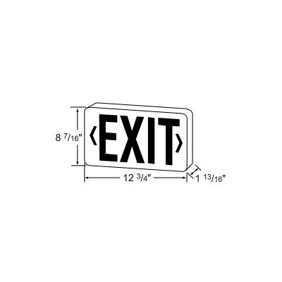 LED Di-Cast Exit Double Face in Red