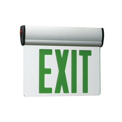 Double Slope Ceiling Edge Light Exit in Green