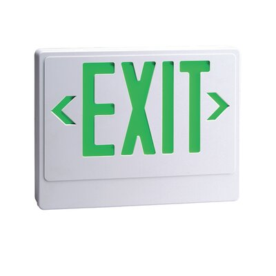 LED Exit Sign with Remote Capability in Green