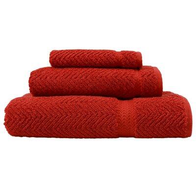 Huguetta Weave 3 Piece Turkish Cotton Towel Set Color: Terracotta