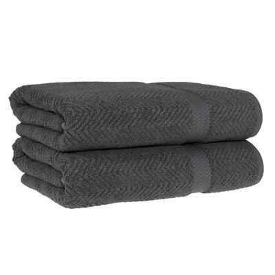 Huguetta Turkish Cotton Bath Towel Color: Gray