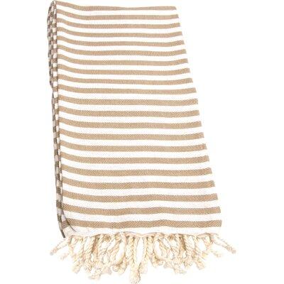 Fun in the Sun Pestemal 100% Cotton Batch Towel Color: Cafe Latte