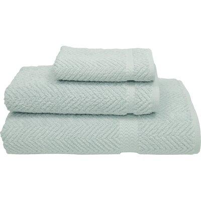 Huguetta Weave 3 Piece Turkish Cotton Towel Set Color: Soft Aqua
