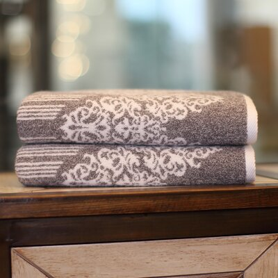 Gioia Turkish Cotton Bath Towel Color: Vintage Brown