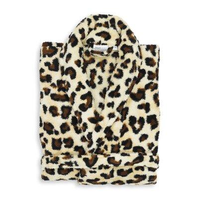 Goodrow Super Plush Luxurious Soft Leopard Print Bathrobe Size: Small