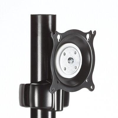 Pivot/Pitch Swivel Pole Mount for LCD Finish: Black