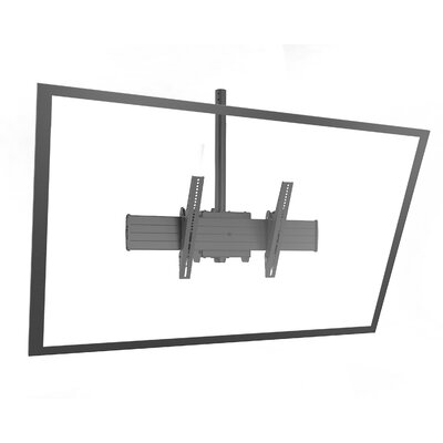 "Fusion Extra Large Single Pole Ceiling Mounts Swivels for Greater than 50"" Flat Panel Screens"