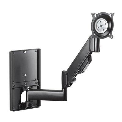 """Height-Adjustable Steel Stud Monitor Wall Mount (10-32"""" Displays) Color: Black"""