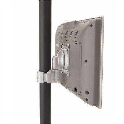 Pivot/Pitch Swivel Pole Mount for LCD Finish: Silver