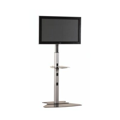 "Medium Tilt Universal Floor Stand Mount for up to 50"" Plasma/LCD Finish: Silver"
