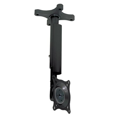 "Pitch-Adjustable LCD Ceiling Mount with 12-18"" Adjustable Column Color: Black"