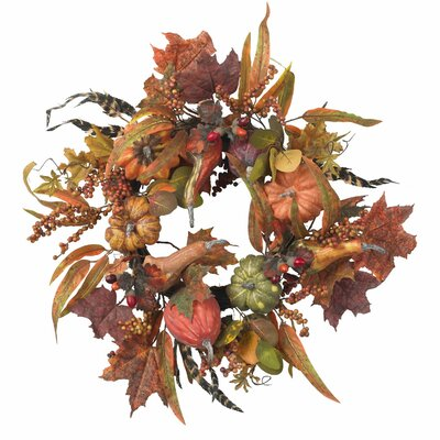 Nearly Natural Pumpkin & Berry Wreath