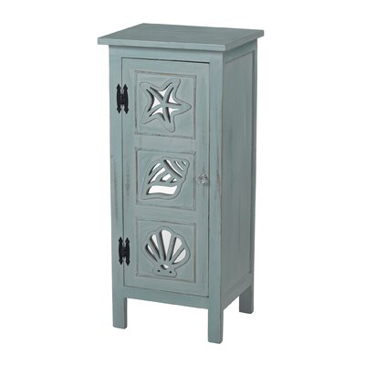 Caufield Mirrored Seashell Accent Cabinet