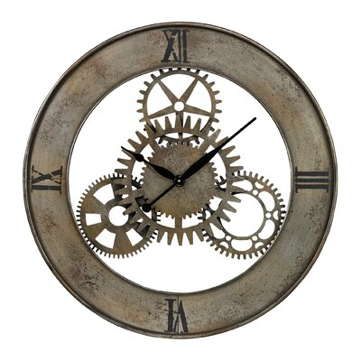 "Sterling Industries Oversized 30"" Industrial Cog Wall Clock"