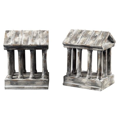 Sterling Industries Aged Colum Book Ends