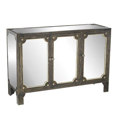 Shirley Mirrored 3 Door Accent cabinet