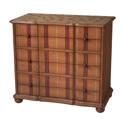 Ellman Stripe 3 Drawer Chest