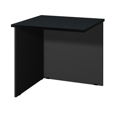 "Modular 28.38"" H x 30"" W Desk Bridge Finish: Black Granite / Black"