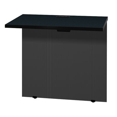 "Modular 28.38"" H x 31"" W Desk Bridge Finish: Oiled Cherry / Black"