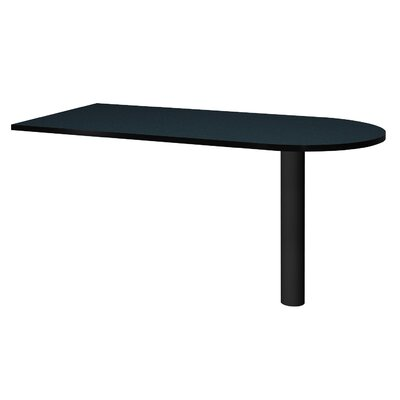 "Modular 28.38"" H x 60"" W Desk Peninsula Finish: Oiled Cherry / Black"