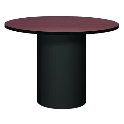 "Corsica Circular Conference Table Base Finish: Black, Top Finish: Oiled Cherry, Size: 3' 6"" L"