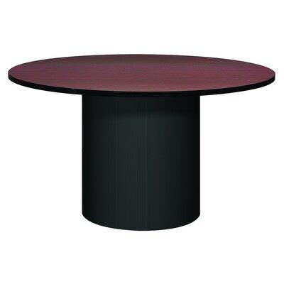 Corsica Circular Conference Table Base Finish: Black, Top Finish: Mahogany, Size: 4' L