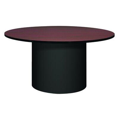 Corsica Circular Conference Table Base Finish: Black, Top Finish: Mahogany, Size: 5' L