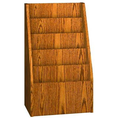 Glacier Magazine Display End of Range Color: Dixie Oak