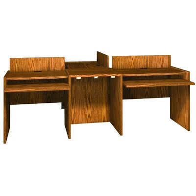 "Glacier 1"" H x 23.88"" W Desk Connector Finish: Dixie Oak"