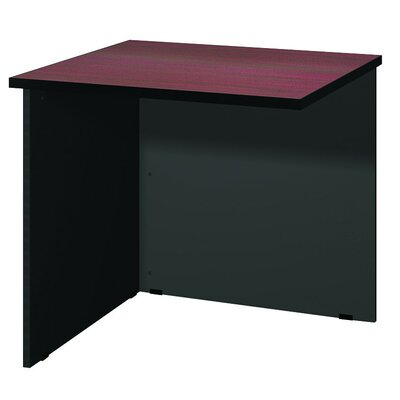 "Modular 28.38"" H x 30"" W Desk Bridge Finish: Mahogany / Black"