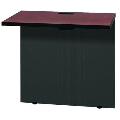 """Modular 28.38"""" H x 31"""" W Desk Bridge Finish: Mahogany / Black"""