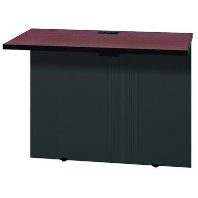 """Modular 28.38"""" H x 37"""" W Desk Bridge Finish: Mahogany / Black"""