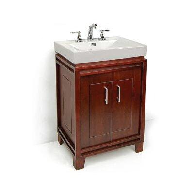 "Bartone 24"" Vitreous Ensemble Bathroom Vanity Set Base Finish: Walnut"