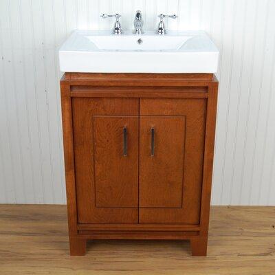"Bartone 24"" Vitreous Ensemble Bathroom Vanity Set Base Finish: Golden Oak"