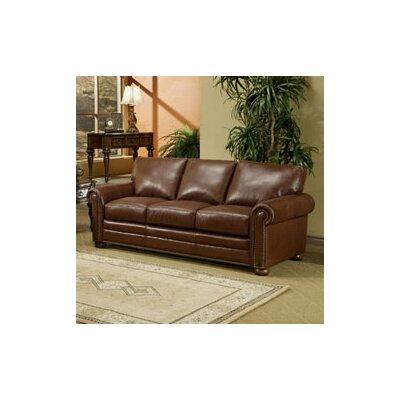 Omnia Leather Savannah Leather Sleeper Sofa