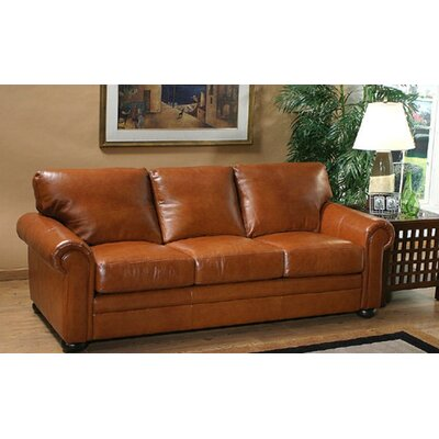 Omnia Leather Georgia Leather Sleeper Sofa